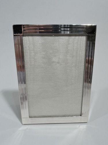 Tiffany Modern Sterling Silver Frame for Portrait or Landscape Picture