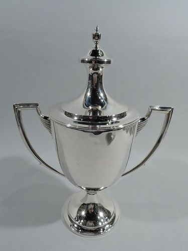 English Edwardian Neoclassical Covered Urn Trophy Cup by Crichton 1917