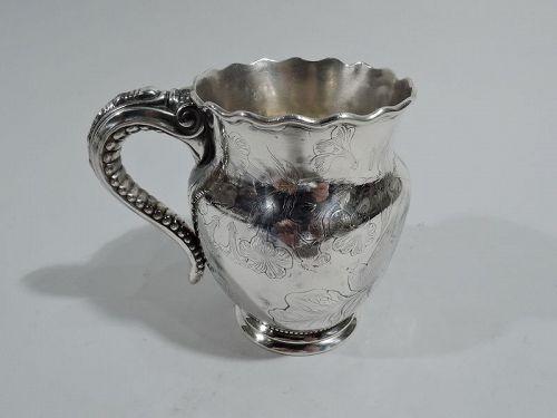 Antique Gorham American Art Nouveau Sterling Silver Baby Cup