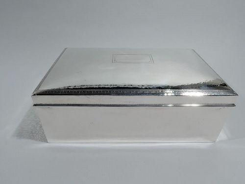 Tiffany American Craftsman Hand Hammered Cigar Box
