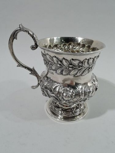 Antique English Georgian Regency Sterling Silver Baby Cup 1833