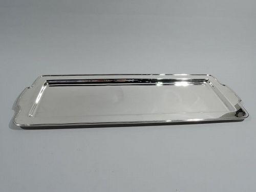 Antique Tiffany American Art Deco Sterling Silver Bar Tray