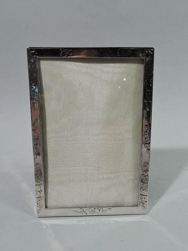 Antique Tiffany Edwardian Art Nouveau Sterling Silver Picture Frame