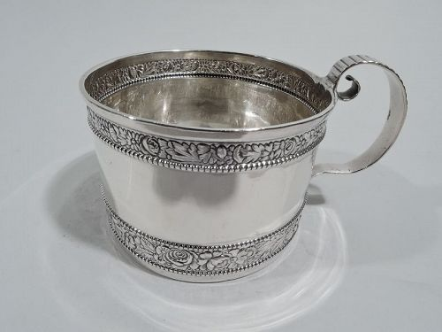 Antique Gorham Victorian Classical Sterling Silver Baby Cup 1890