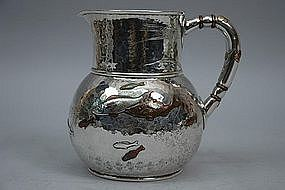 Antique Tiffany Silver Mixed Metal Pitcher Circa 1885