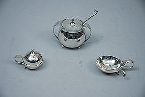 Georg Jensen Sterling Silver 3-Piece Condiment Set