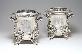 Georgian Royal Silver Wine Coolers London 1831-1832