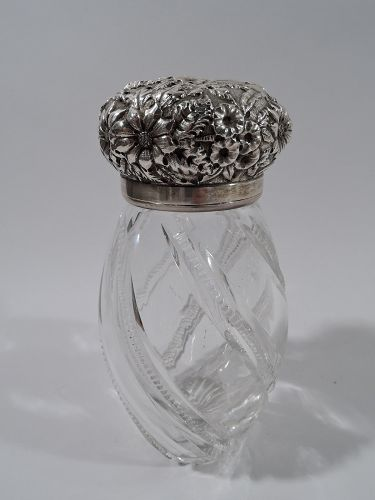 American Sterling Silver And Cut Glass Sugar Shaker