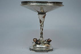 Gorham Sterling Silver And Mixed Metal Compote 1872