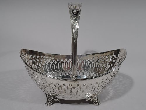 Antique Sterling Silver Basket by Roger Williams C 1910