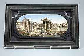 Roman Forum - Italian Micromosaic Plaque