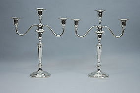 Tiffany Antique Silver Candelabra Circa 1940