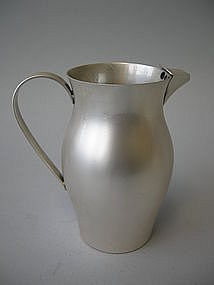 American Art Moderne Sterling Pitcher, C. 1950