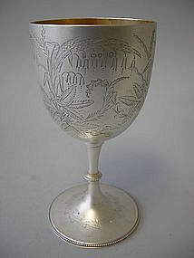 English London Sterling Silver Goblet Victorian 1875