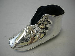 Figural Sterling Silver Baby Boot  Gorham 1915