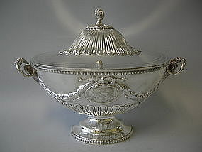 Victorian English London Sterling Silver Soup Tureen