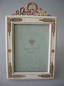 French Dore Bronze Mounted Picture Frame  C 1900