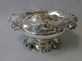 Mauser Sterling Silver Art Nouveau Punch Bowl