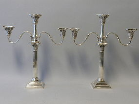 Pair of Gorham Sterling Silver Candelabra 1907