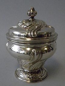 Antique Austrian Silver Inkwell Circa 1900