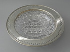 Tiffany Sterling Silver Brilliant Cut Glass Bowl C 1910