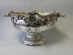 Important Tiffany Silver Horse Head Punch Bowl C. 1881