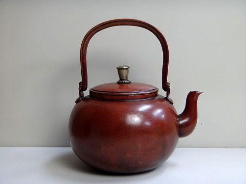antique bronze teapot tetsubin metalwork Japanese