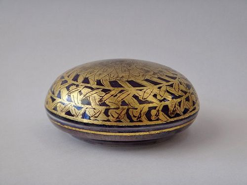 Hakuko Ono ceramic kogo incense box porcelain pottery