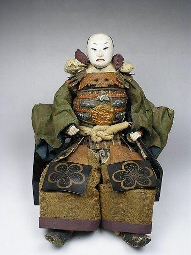 Antique Japanese samurai Doll figure  edo meiji