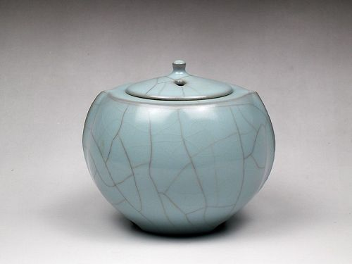 Sansei Suzuki Japanese Celadon Koro Incense burner ceramic