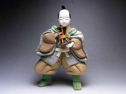 Japanese doll samurai dolls vintage