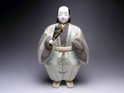 Japanese samurai doll dolls vintage okimono