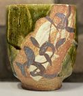Ken Matsuzaki Oribe Yunomi Ceramic Teacup Cup Japanese pottery