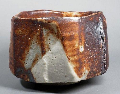 Higuchi Masayuki Shino style Ceramic teabowl Chawan bowl
