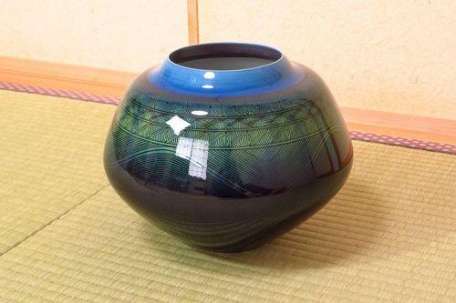 Yasokichi Tokuda Kutani Ceramic Vase Japanese Pottery