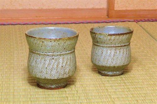 tatsuzo Shimaoka Ceramic Yunomi teacup cup Japanese pottery