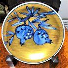 Yuzo Kondo Ceramic Kinsai Gold Charger Japanese pottery