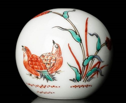 14th Kakiemon Sakaida Porcelain Bunchin Paperweight object