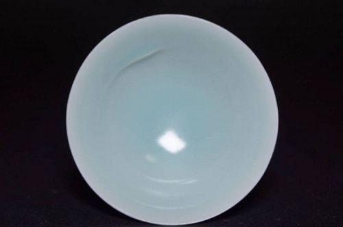 Sueharu Fukami Celadon Porcelain Sake Cup Sakazuki Guinomi cups