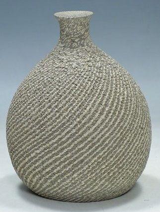 Kosei Matsui Ceramic Neriage style bottle