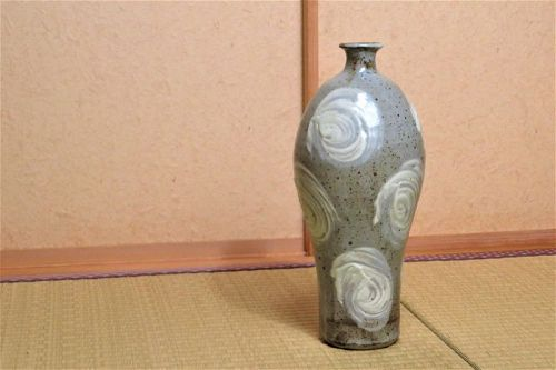 Matsuzaki Ken Stoneware Flower Vase Japanese pottery ceramic vases