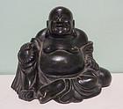 Chinese bronze figure of Budai