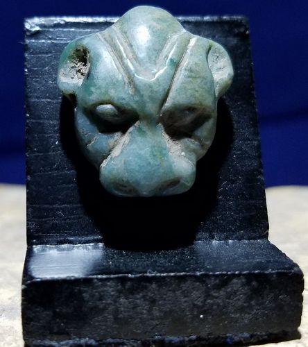 ANCIENT EGYPTIAN MIDDLE KINGDOM JASPER FELINE AMULET