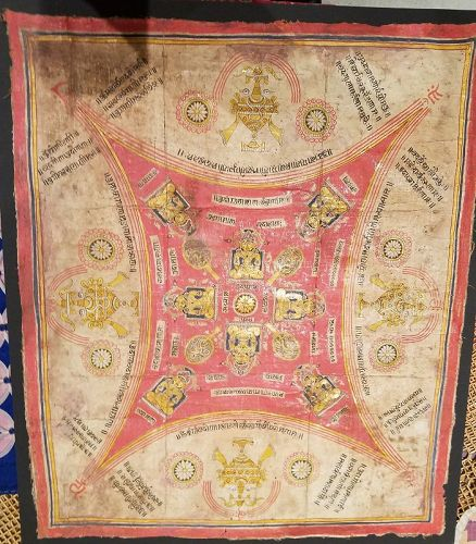 EARLY AND RARE JAIN COSMIC DIAGRAM