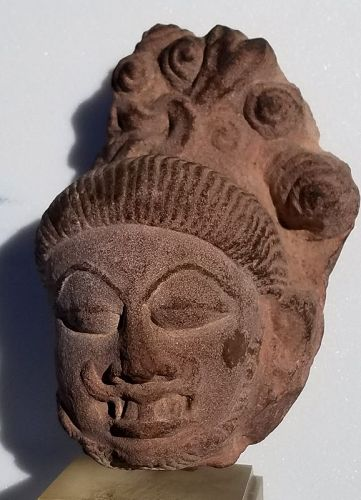 11th CENTURY INDIAN HINDU SANDSTONE SCULPTURE OF BHAIRAV