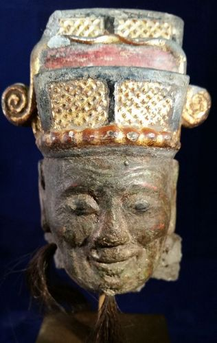 CHINESE EARLY MING HEAD OF AN  ELDERLY OFFICIAL