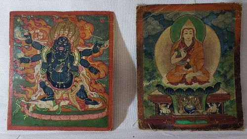 19th CENTURY TIBETAN MINIATURE PAINTINGS