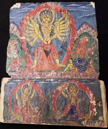 NEPALESE TANTRIC HINDU MANUSCRIPT