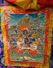 TIBETAN BUDDHIST THANGKA PAINTING OF LHAMO