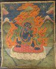 ANTIQUE TIBETAN OR MONGOLIAN HIMALAYAN BUDDHIST THANGKA